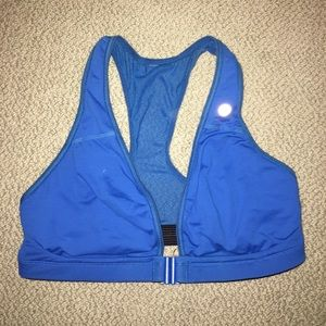 Blue Front-Closure Lululemon Sports Bra